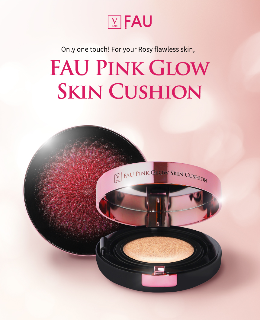 Fau Pink Glow Skin Solution Cushion SPF50 W/ Refill